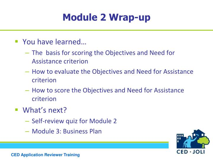 Module 2 Wrap-up