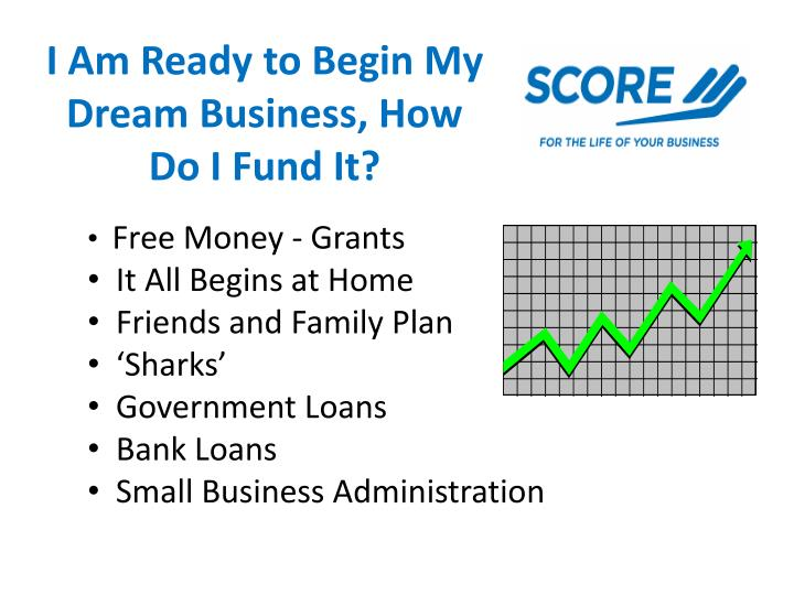 I am ready to begin my dream business how do i fund it