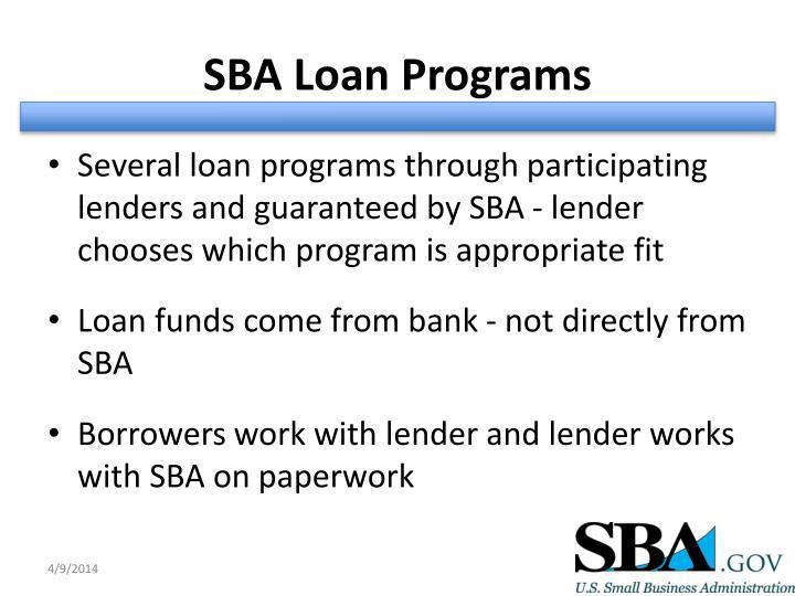 SBA Loan Programs
