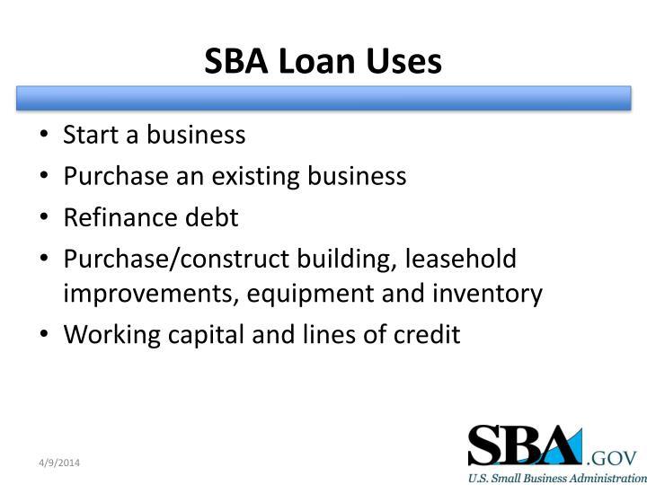SBA Loan Uses