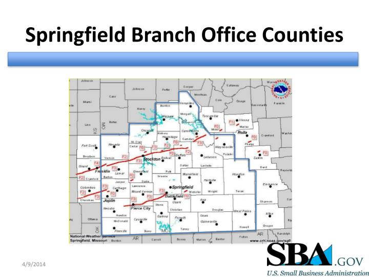 Springfield Branch Office Counties