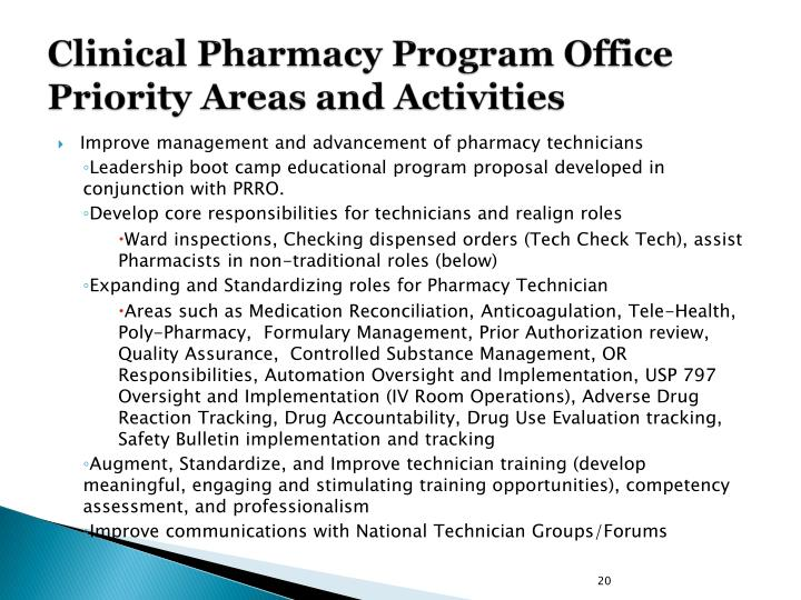Clinical Pharmacy Program Office