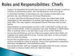 roles and responsibilities chiefs