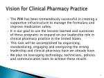 vision for clinical pharmacy practice