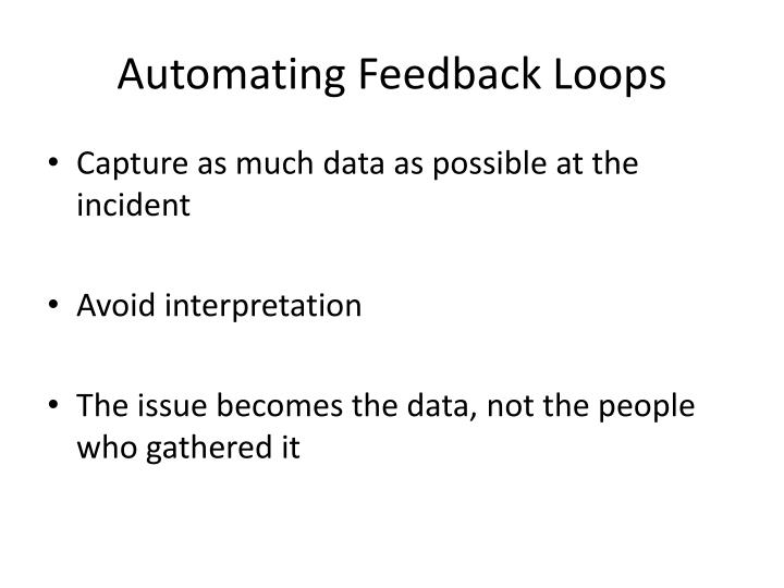 Automating Feedback Loops