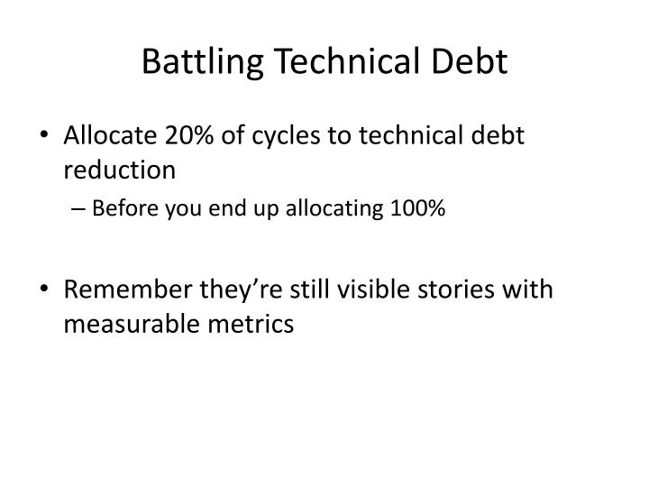 Battling Technical Debt