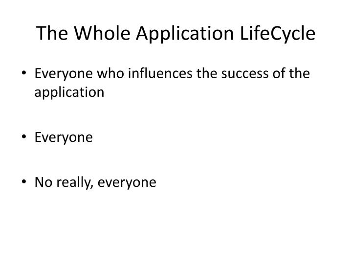 The Whole Application