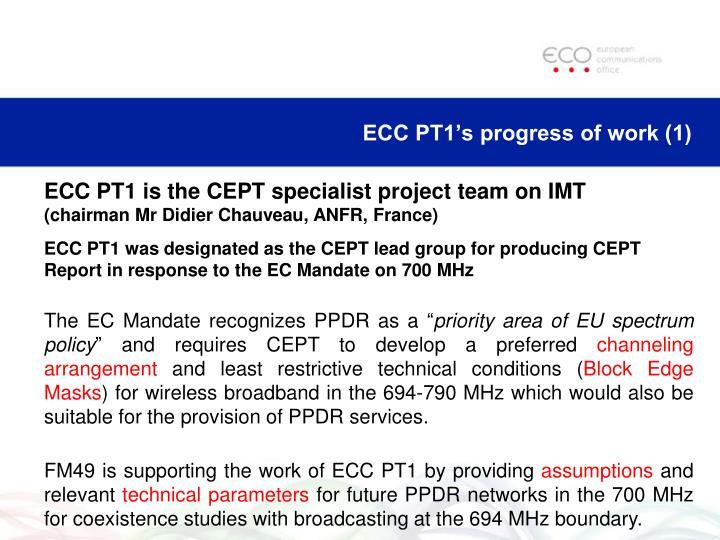 ECC PT1's progress of work (1)