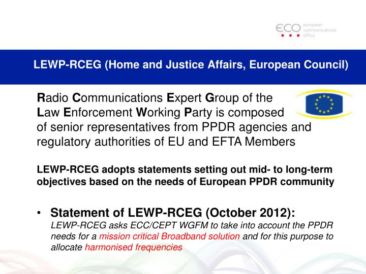 LEWP-RCEG (Home and Justice Affairs, European Council)