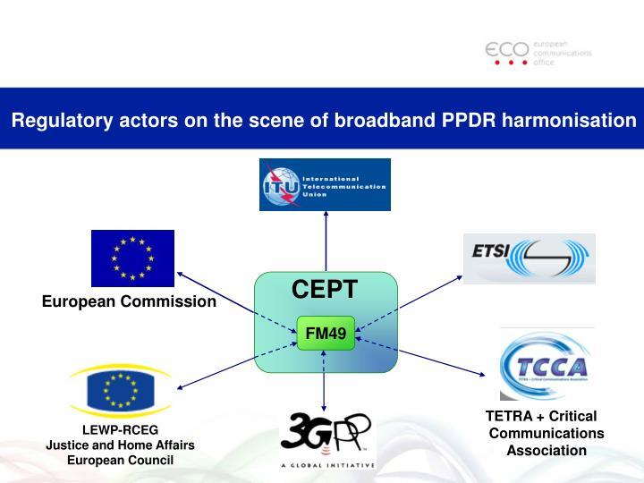 Regulatory actors on the scene of broadband PPDR harmonisation
