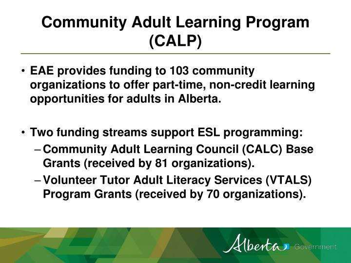 Community Adult Learning Program (CALP)