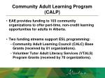 community adult learning program calp