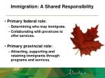 immigration a shared responsibility