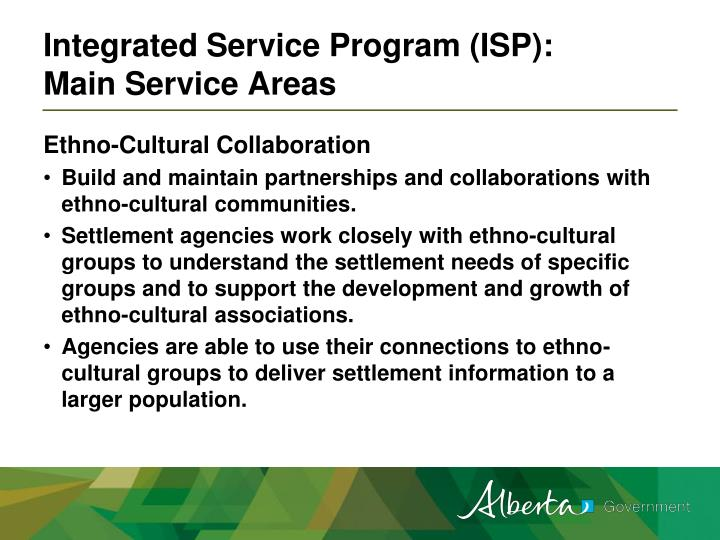 Integrated Service Program (ISP):