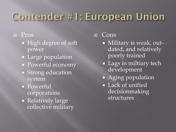 Contender #1: European Union