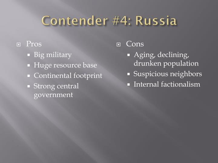 Contender #4: Russia