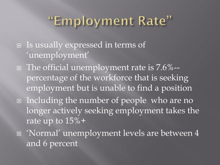 """""""Employment Rate"""""""