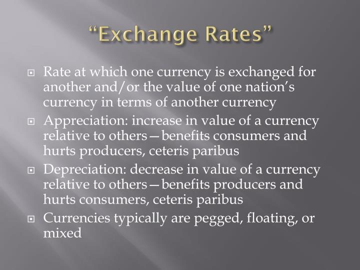 """Exchange Rates"""