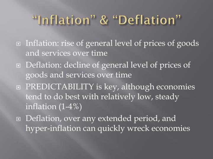"""Inflation"" & ""Deflation"""