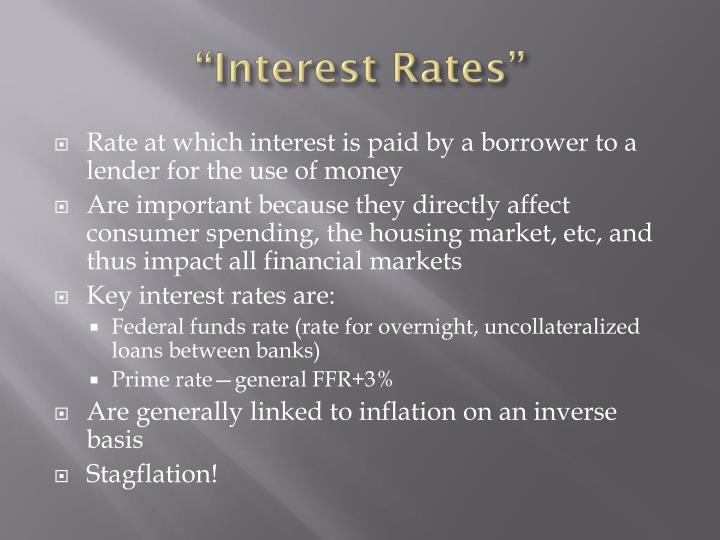 """Interest Rates"""