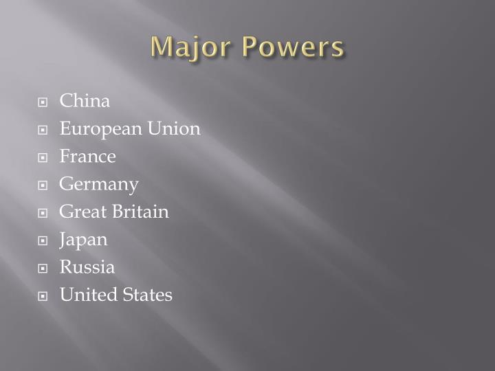 Major Powers