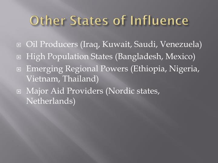 Other States of Influence