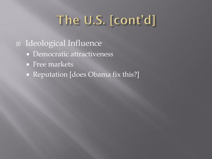 The U.S. [cont'd]