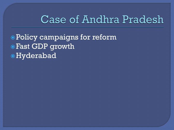 Case of Andhra Pradesh