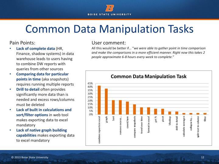 Common Data Manipulation Tasks