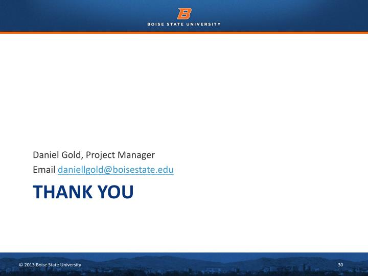 Daniel Gold, Project Manager