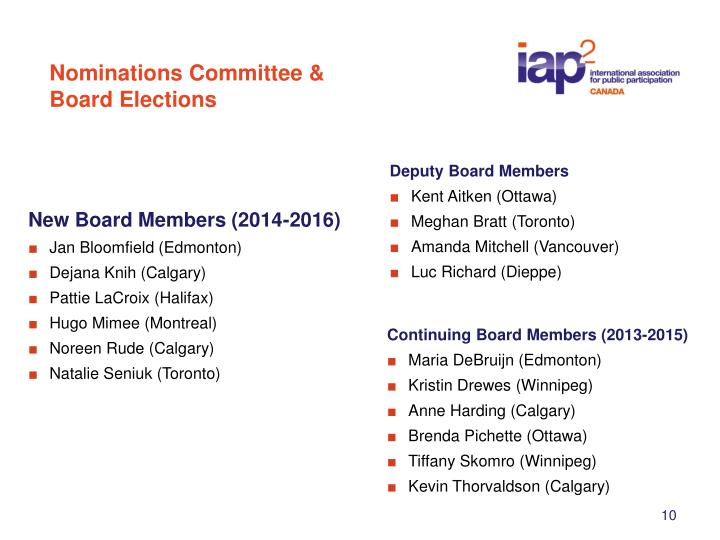 Nominations Committee &