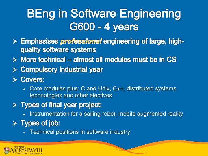 BEng in Software Engineering