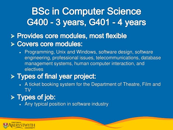 BSc in Computer Science