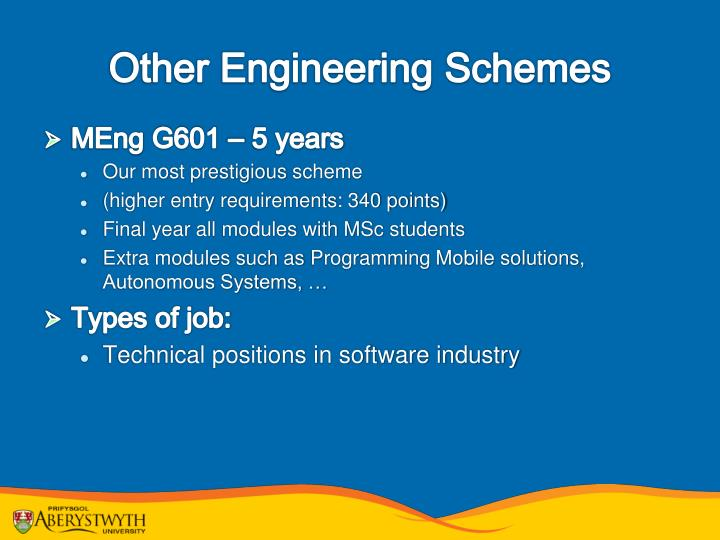 Other Engineering Schemes