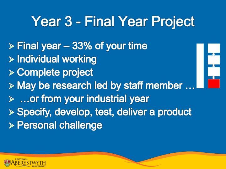 Year 3 - Final