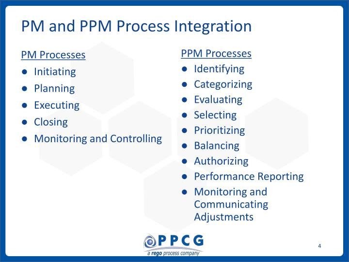 PM and PPM Process Integration