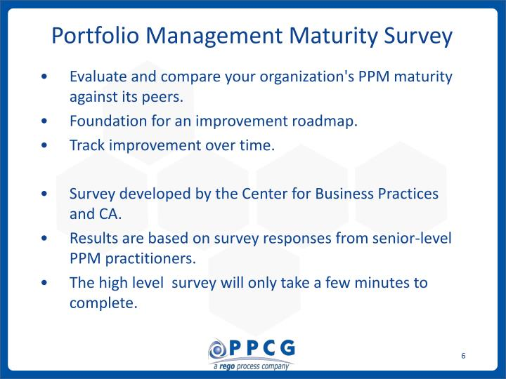 Portfolio Management Maturity Survey