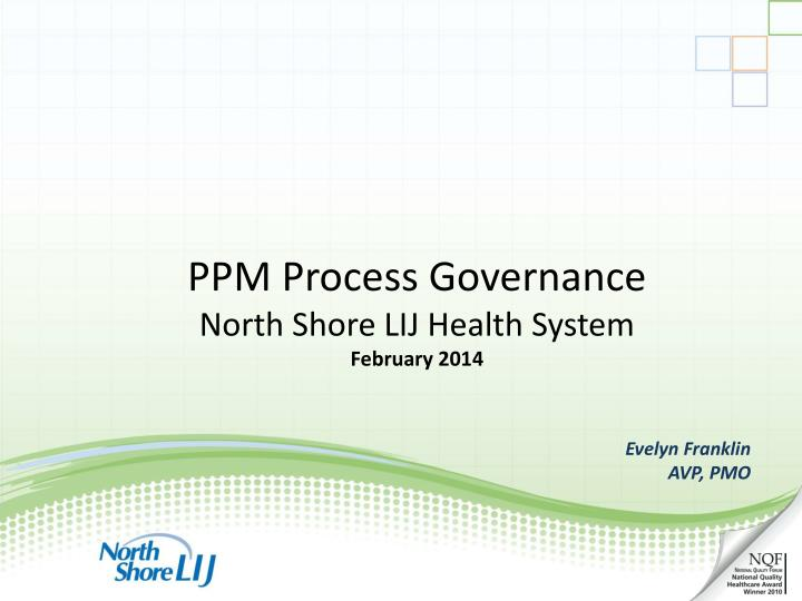 PPM Process Governance