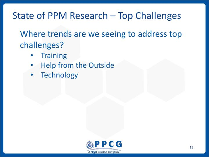 State of PPM Research – Top Challenges