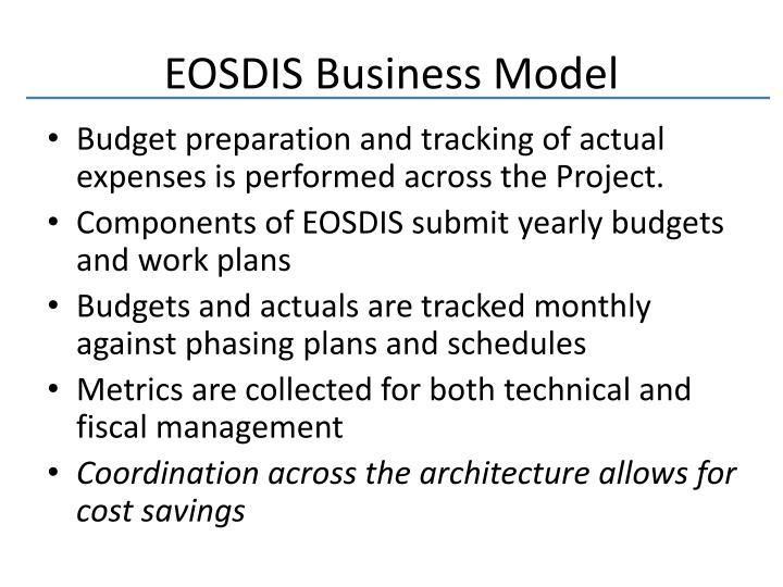 EOSDIS Business Model