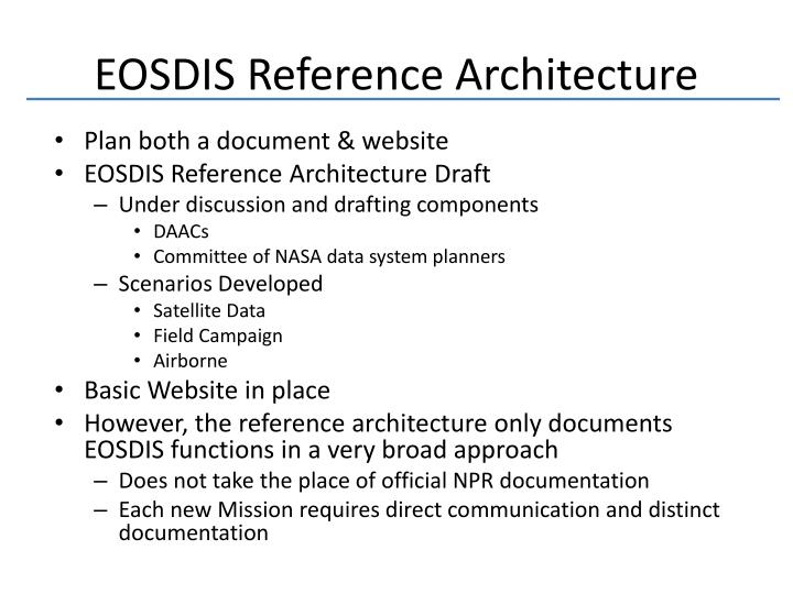 EOSDIS Reference Architecture