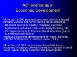 achievements in economic development