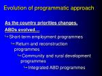 evolution of programmatic approach