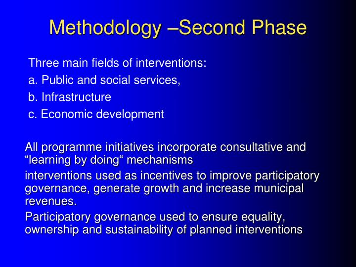 Methodology –Second Phase