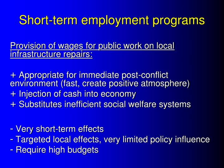 Short-term employment