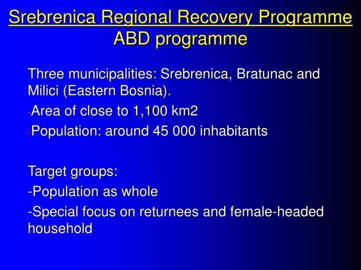 Srebrenica Regional Recovery Programme