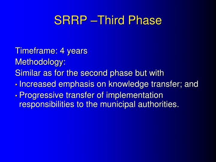 SRRP –Third Phase