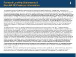 forward looking statements non gaap financial information