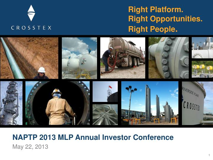 Naptp 2013 mlp annual investor conference