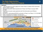 the right opportunities cajun sibon expansion projects